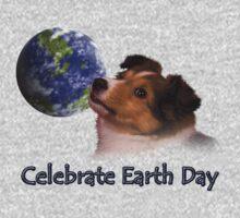 Celebrate Earth Day Sheltie Puppy One Piece - Long Sleeve