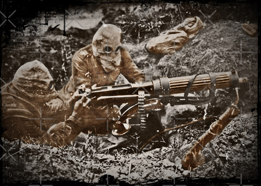Gas Masks in the Western Front WWI by diane  addis