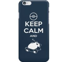 Keep Calm and Snorlax iPhone Case/Skin