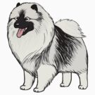 Keeshond Cartoon Dog by Jenn Inashvili