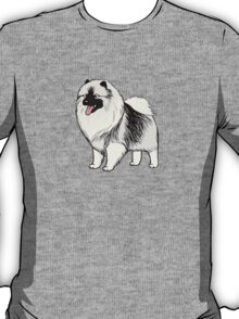 Keeshond Cartoon Dog T-Shirt