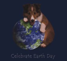 Celebrate Earth Day Sheltie Puppy Kids Clothes