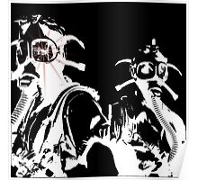 Star in Her Eye Gas Masks Poster