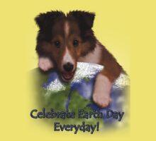 Celebrate Earth Day Everyday Sheltie One Piece - Short Sleeve