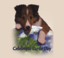 Celebrate Earth Day Sheltie Puppy by jkartlife