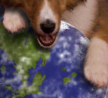 Earth Day Angel Sheltie Sticker