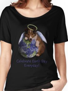Celebrate Earth Day Everyday Angel Sheltie Women's Relaxed Fit T-Shirt