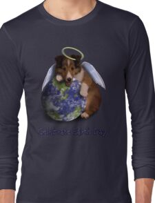 Celebrate Earth Day Angel Sheltie Puppy Long Sleeve T-Shirt