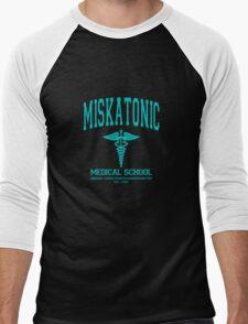 Miskatonic Medical School Blue Men's Baseball ¾ T-Shirt