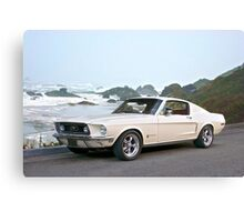 1968 Ford Mustang Fastback Canvas Print