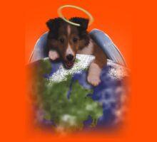 Earth Day Angel Sheltie Kids Tee