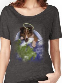 Earth Day Angel Sheltie Women's Relaxed Fit T-Shirt