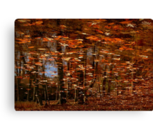 Wither'd Leaves That Fly Before The Gale Canvas Print