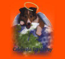Celebrate Earth Day Angel Sheltie Kids Tee