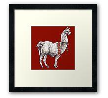 Llama Framed Print