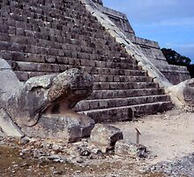 Chichen Itza Serpent Stairs by Eva Kato