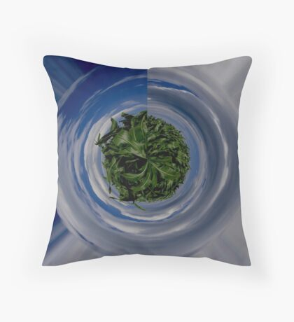Sweet Corn Planet Throw Pillow