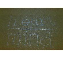 Heart > Mind Photographic Print