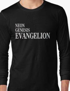 Neon Genesis Evangelion Title Card Long Sleeve T-Shirt
