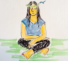 Hummingbird Meditation by carol selchert
