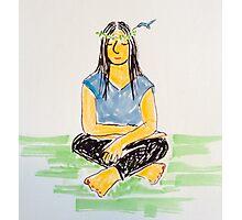 Hummingbird Meditation Photographic Print