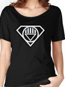 Black Lantern Superman insignia Women's Relaxed Fit T-Shirt