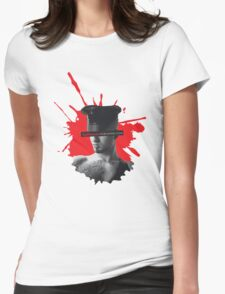Bad Behaviour Leather Splash Womens Fitted T-Shirt