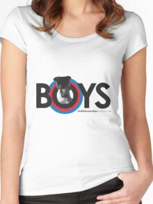 BadBoy Leather - Blk Red Blu Women's Fitted Scoop T-Shirt