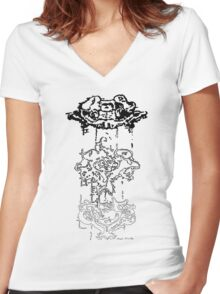 LINEart T-shirt : Three Layers Women's Fitted V-Neck T-Shirt
