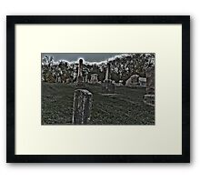 Haunted Cemetery Framed Print