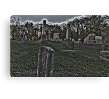Haunted Cemetery Canvas Print