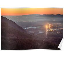 Sky Valley Sunset Poster