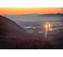 Sky Valley Sunset Photographic Print