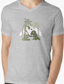 DiNERDsaur Love Mens V-Neck T-Shirt