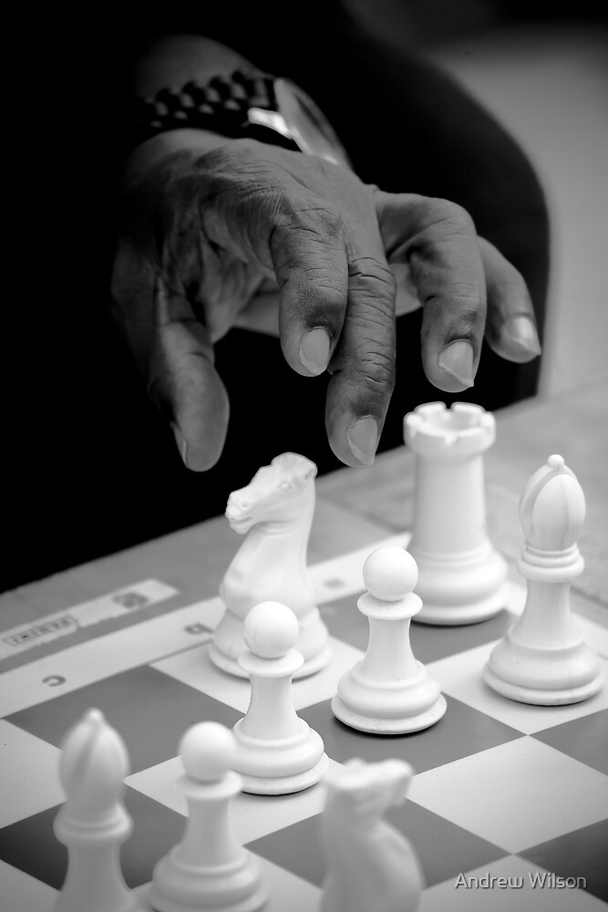 Black moves White by Andrew Wilson