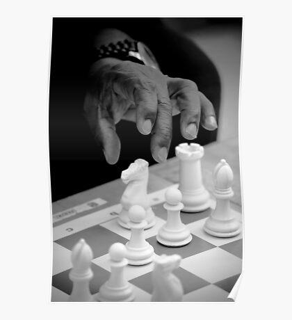Black moves White Poster