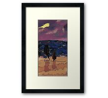 Saturday Seaside Framed Print