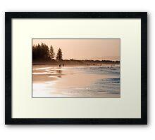 Shimmering sands - Byron sunset Framed Print