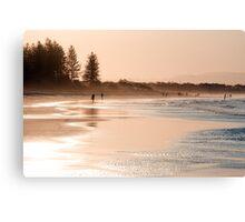 Shimmering sands - Byron sunset Canvas Print