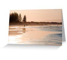 Shimmering sands - Byron sunset Greeting Card