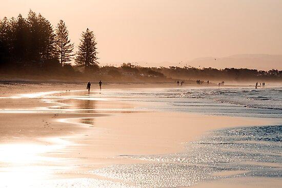 Shimmering sands - Byron sunset by Jenny Dean