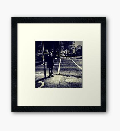 Boys Love Standing Near Traffic Lights in Southbank Framed Print