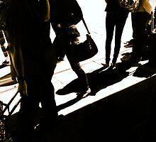 Shadows on Flinders Street Station by ART Gallery