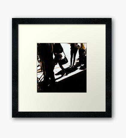 Shadows on Flinders Street Station Framed Print