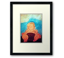 Peaceful Babe Framed Print