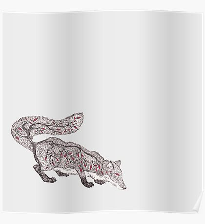 Little Red Leaf Tree Fox Poster