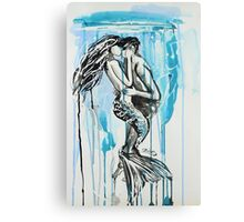 Kiss Me Under Canvas Print