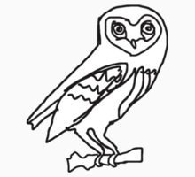 this is an owl Kids Tee