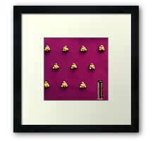 BREAD ON THE WALL Framed Print
