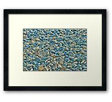 Pebbles HDR Framed Print